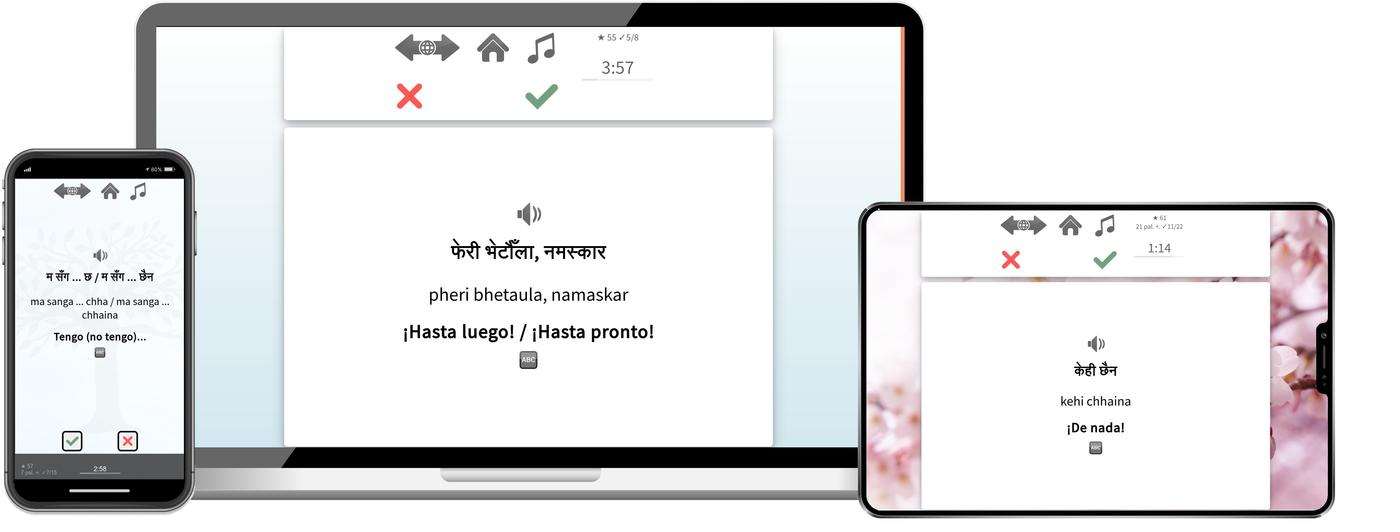Aprende nepalí mucho más rápido