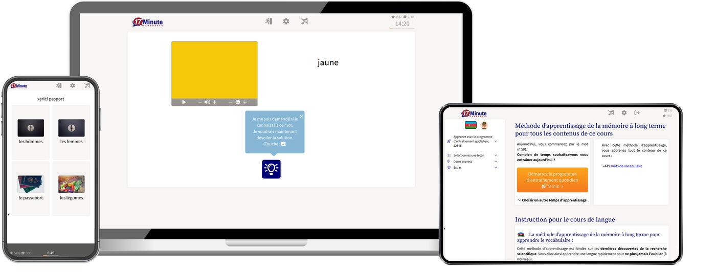 Apprenez l'azéri plus rapidement