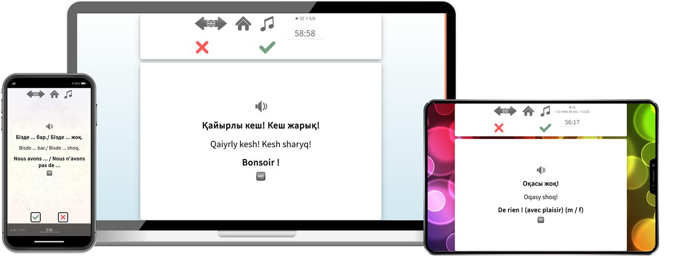 Apprenez le kazakh plus rapidement