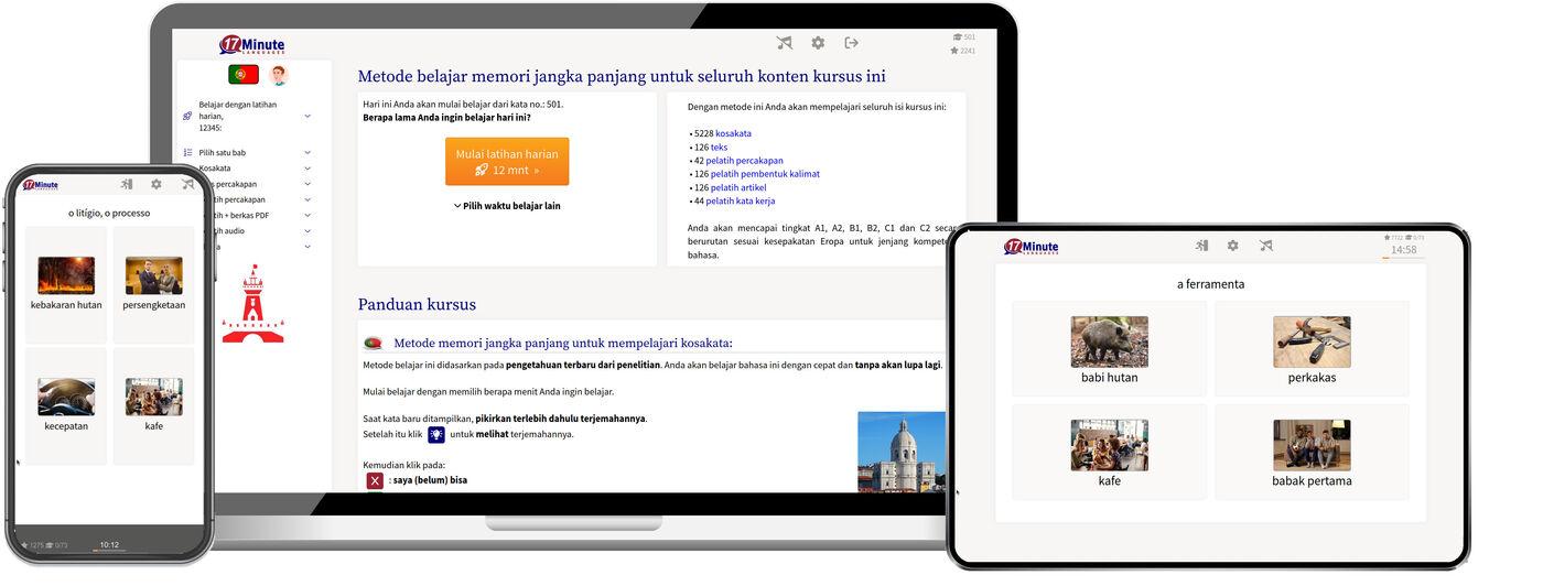 Belajar Bahasa Portugis Menggunakan Metode Ingatan Jangka