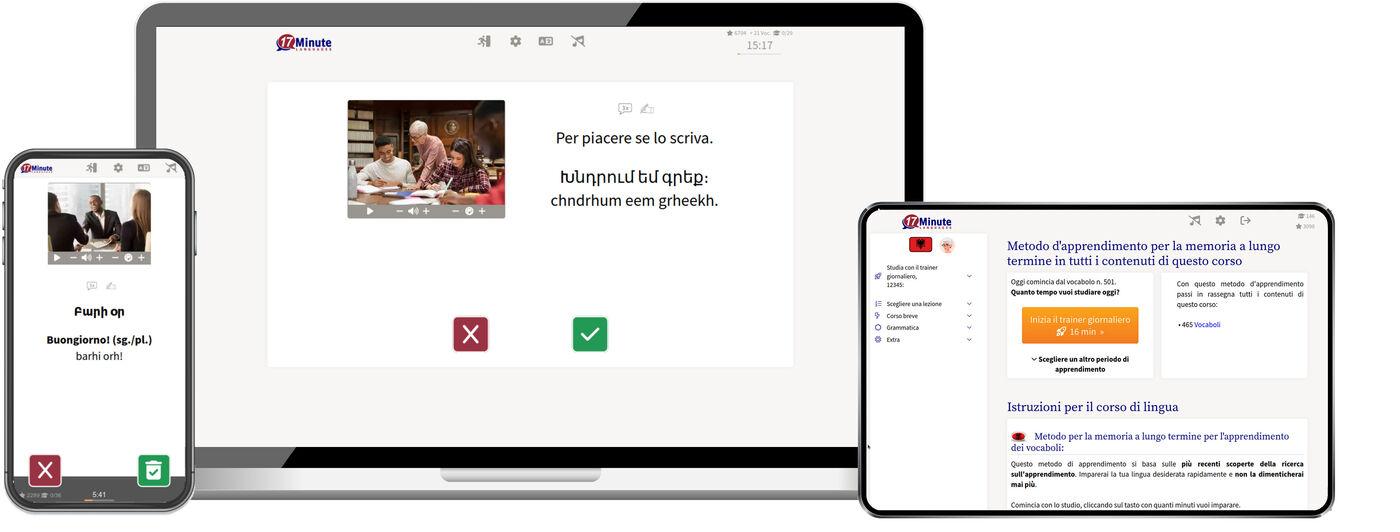 imparare l'armeno online