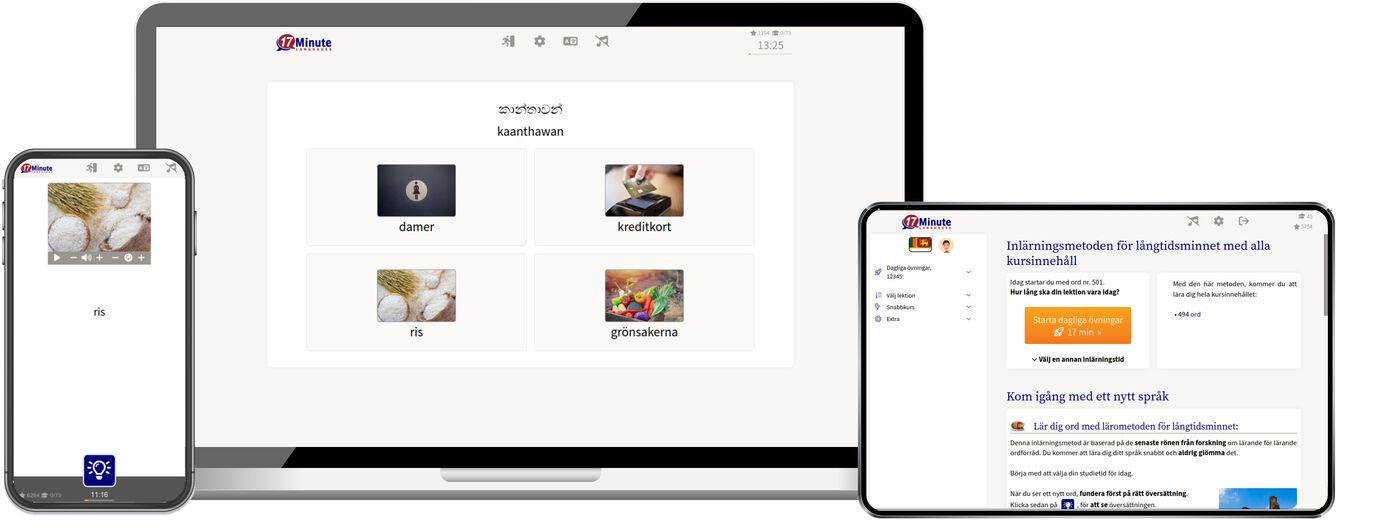 Lär dig singalesiska online